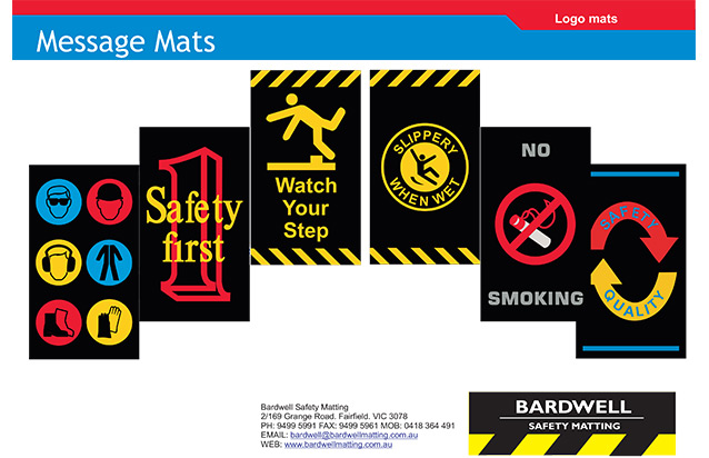 SAFETY MESSAGE MAT